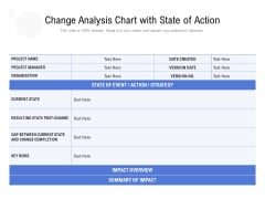 Change Analysis Chart With State Of Action Ppt PowerPoint Presentation Gallery Background Designs PDF