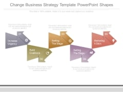 Change Business Strategy Template Powerpoint Shapes
