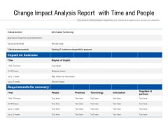 Change Impact Analysis Report With Time And People Ppt PowerPoint Presentation Gallery Skills PDF