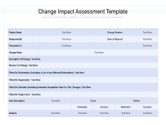 Change Impact Assessment Template Ppt PowerPoint Presentation Infographics Design Inspiration PDF