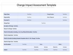 Change Impact Assessment Template Ppt PowerPoint Presentation Infographics Design Inspiration PDF