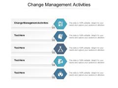 Change Management Activities Ppt PowerPoint Presentation Slides Deck Cpb