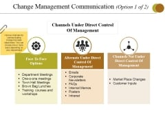 Change Management Communication Template 3 Ppt PowerPoint Presentation Gallery Graphic Images