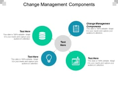 Change Management Components Ppt PowerPoint Presentation Slides Tips Cpb
