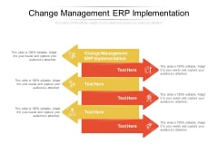 Change Management ERP Implementation Ppt PowerPoint Presentation Slides Elements Cpb