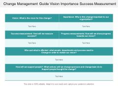 Change Management Guide Vision Importance Success Measurement Ppt Powerpoint Presentation Professional Slide Portrait