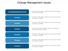 Change Management Issues Ppt PowerPoint Presentation Summary Graphic Images Cpb