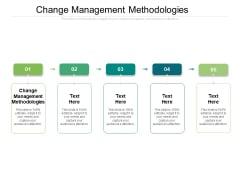 Change Management Methodologies Ppt PowerPoint Presentation Ideas Deck Cpb