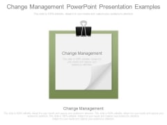 Change Management Powerpoint Presentation Examples