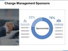 Change Management Sponsors Ppt PowerPoint Presentation Icon Portrait