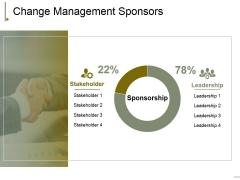 Change Management Sponsors Ppt PowerPoint Presentation Icon Slideshow