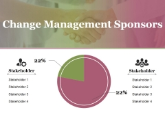 Change Management Sponsors Ppt PowerPoint Presentation Model Show