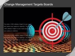 Change Management Targets Boards Ppt PowerPoint Presentation Deck