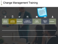 Change Management Training Ppt PowerPoint Presentation Pictures Visuals