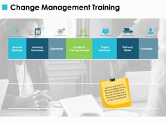 Change Management Training Ppt PowerPoint Presentation Show Graphics Design