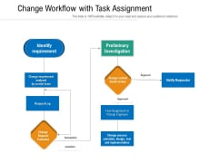 Change Workflow With Task Assignment Ppt PowerPoint Presentation File Layouts PDF
