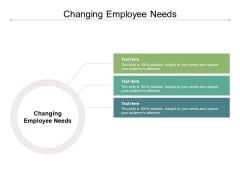 Changing Employee Needs Ppt PowerPoint Presentation File Skills Cpb