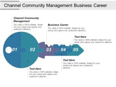 Channel Community Management Business Career Ppt PowerPoint Presentation Ideas Master Slide