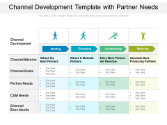 Channel Development Template With Partner Needs Ppt PowerPoint Presentation File Samples PDF