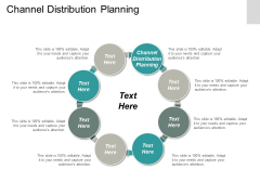 Channel Distribution Planning Ppt PowerPoint Presentation Infographics Example Topics Cpb
