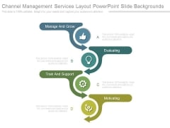 Channel Management Services Layout Powerpoint Slide Backgrounds