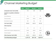 Channel Marketing Budget Ppt PowerPoint Presentation Infographic Template Slides