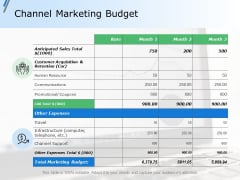 Channel Marketing Budget Ppt Powerpoint Presentation Styles Images