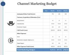 Channel Marketing Budget Ppt PowerPoint Presentation Summary Portfolio