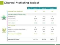 Channel Marketing Budget Ppt PowerPoint Presentation Visual Aids Files