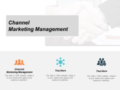 Channel Marketing Management Ppt PowerPoint Presentation Show Structure Cpb