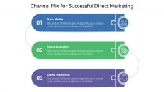 Channel Mix For Successful Direct Marketing Ppt Summary Layouts PDF