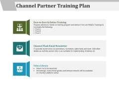 Channel Partner Training Plan Ppt PowerPoint Presentation Outline Visuals
