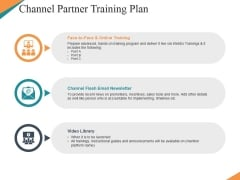 Channel Partner Training Plan Ppt PowerPoint Presentation Professional Backgrounds