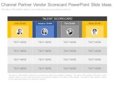 Channel Partner Vendor Scorecard Powerpoint Slide Ideas