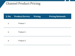 Channel Product Pricing Ppt PowerPoint Presentation Professional File Formats