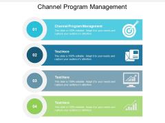Channel Program Management Ppt PowerPoint Presentation Portfolio Background Images Cpb