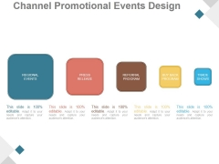 Channel Promotional Events Design Ppt PowerPoint Presentation Styles