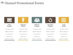 Channel Promotional Events Ppt PowerPoint Presentation Infographic Template Demonstration