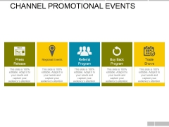 Channel Promotional Events Ppt PowerPoint Presentation Infographic Template Design Inspiration