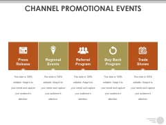 Channel Promotional Events Ppt PowerPoint Presentation Infographic Template Master Slide