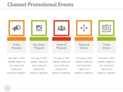 Channel Promotional Events Ppt PowerPoint Presentation Layouts Graphics