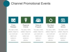 Channel Promotional Events Ppt PowerPoint Presentation Model