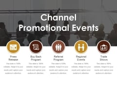 Channel Promotional Events Ppt Powerpoint Presentation Pictures Show