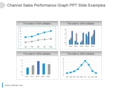 Channel Sales Performance Graph Ppt Slide Examples