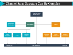 Channel Sales Structure Can Be Complex Ppt Powerpoint Presentationmodel Brochure
