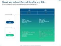 Channel Sales Taking Your Product To Market Direct And Indirect Channel Benefits And Risks Pictures PDF