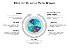 Channels Business Model Canvas Ppt Powerpoint Presentation Summary Ideas Cpb