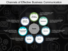 Channels Of Effective Business Communication Ppt PowerPoint Presentation Outline Infographic Template