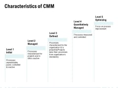 Characteristics Of CMM Ppt PowerPoint Presentation Layouts Themes
