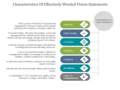 Characteristics Of Effectively Worded Vision Statements Ppt PowerPoint Presentation Deck